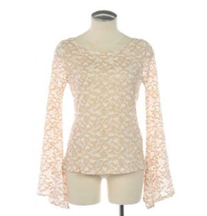 Wink Couture Bell Sleeve Blouse