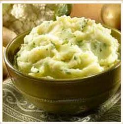 Garlic Mashed Potatoes & Cauliflower Recipe