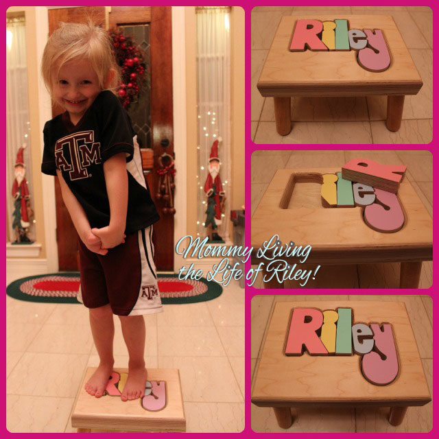 Review Handmade Personalized Puzzle Step Stools From