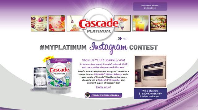 Cascade Platinum Instagram Contest
