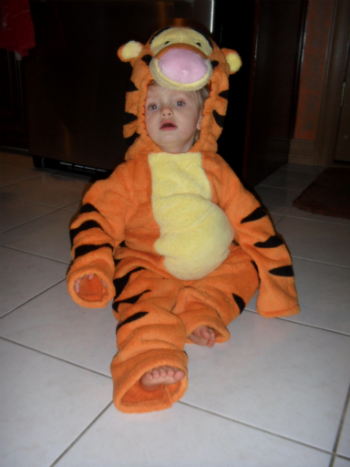 Riley in the Tigger Deluxe Plush Costume
