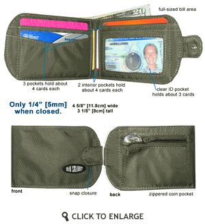 TaxiCat Bi-Fold Wallet from Big Skinny Corp.