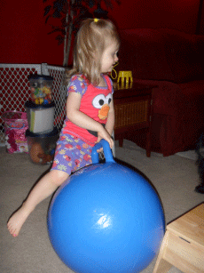 First Fitness 18-Inch Hop Ball from Aqua Leisure