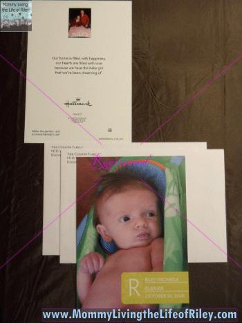 Riley's Birth Announcement from Hallmark