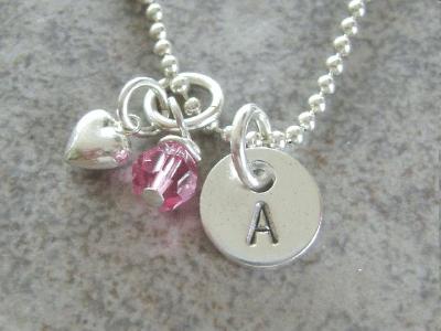 Lauren Nicole Mini Silver Initial Necklace