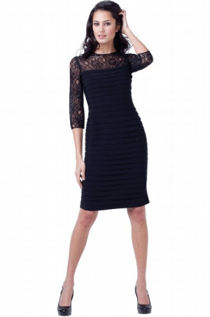 Bluegala Lace-Banded Cocktail Dress