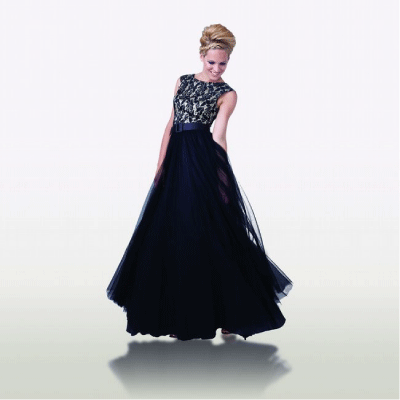 Bluegala Tulle Evening Gown