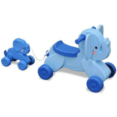 New Beginnings Ride On Toy - Trunk and Lil' Squirt
