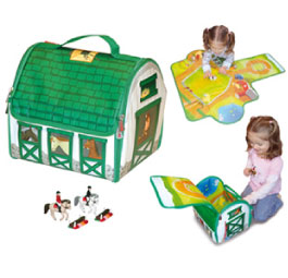 ZipBin Country Stable Play Set