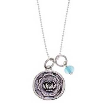 Baroni Lotus Charm Ball Chain Necklace