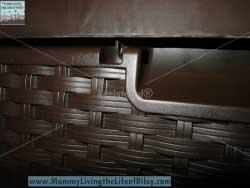 Hayneedle Suncast Resin Wicker 99 Gallon Deck Box