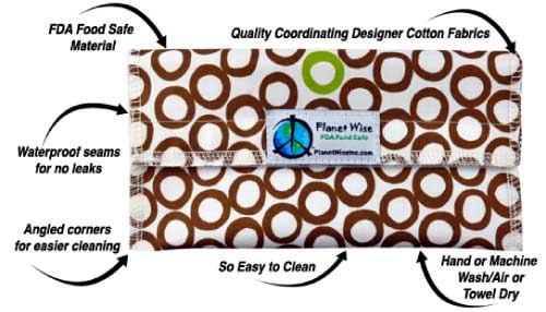 Planet Wise Bag Your Snack Stuff Reusable Bags