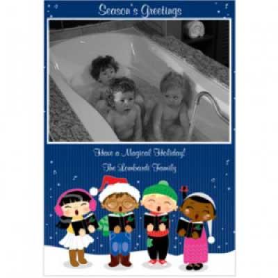 Storkie Bathtub Christmas Cards