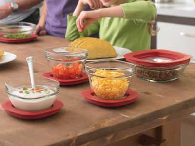 Rubbermaid 8-Piece Glass Container Food Storage Set with Easy Find Lids