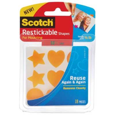 Scotch Restickable Shapes