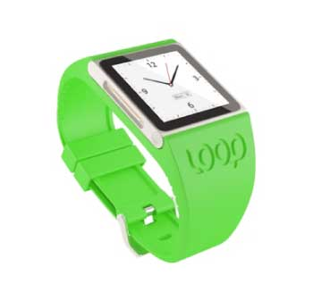 Loop Attachment Green LOOP Nano Silicone Watchband