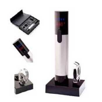 Ozeri Maestro Electric Wine Opener with Digital Thermometer