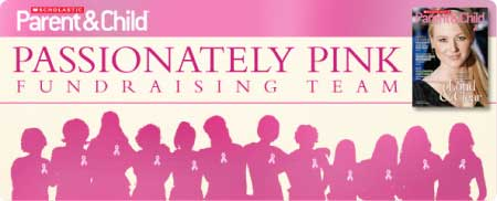 Passionately Pink for the Cure with the Scholastic Passionately Pink Team