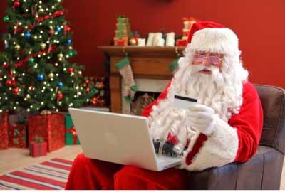 Online Shopping Santa
