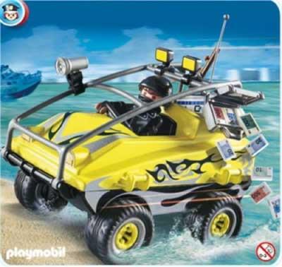 Playmobil Robbers Amphibious Vehicle Play Set