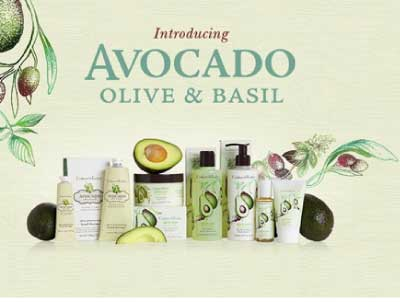 Crabtree & Evelyn Avocado Olive & Basil Skin Care Collection