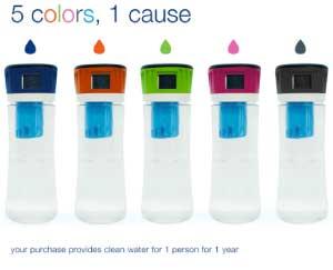 Hydros Side Fill Water Filtration Bottle