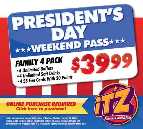 iT'Z President's Day Promo