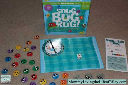 Peaceable Kingdom Snug as a Bug in a Rug Board Game