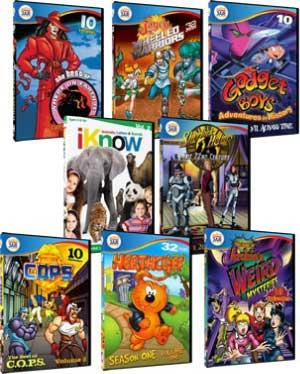 TV Flashbacks Retro Animated Children's DVDs