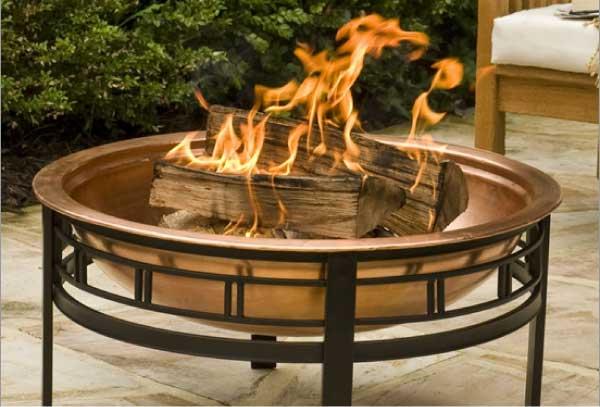 AvantGardenDecor.com CobraCo Copper Mission Fire Bowl