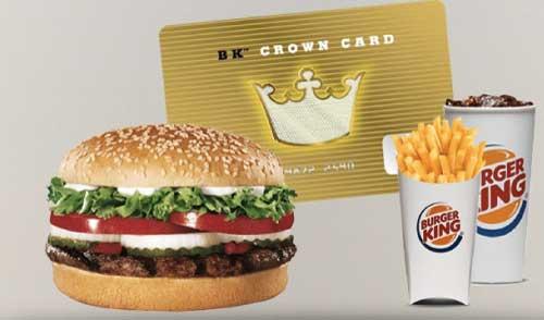 Burger King BK Crown Card
