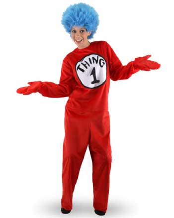 Anytime Costumes Thing 1 & 2 Adult Costume