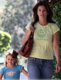 PeaceLoveMom Happy Mom Shirt Worn By Cindy Crawford