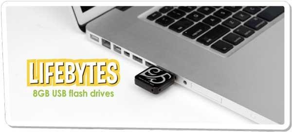 Dane-Elec LifeBytes 8GB USB Drive