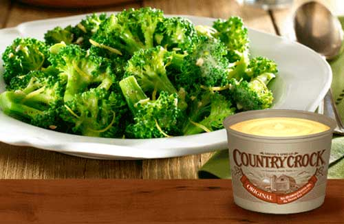 Country Crock Butter on Summer Veggies