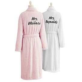 Personalized Chenille Robes