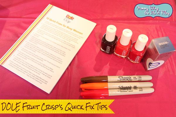 DOLE Fruit Crisp's Quick Fix Tips